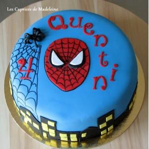 gâteau Spiderman, l'homme araignée