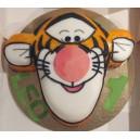 le gâteau Tigrou, la tête