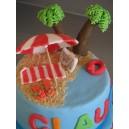 le gâteau plage ou départ à la retraite (à étages ou wedding cake)