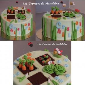 gâteau jardin potager