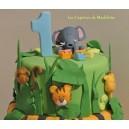 le gâteau jungle ou savane