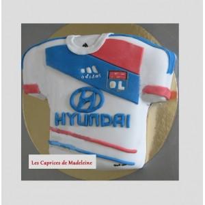 gâteau foot OL olympique lyonnais