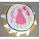 le gâteau broderie ou canevas