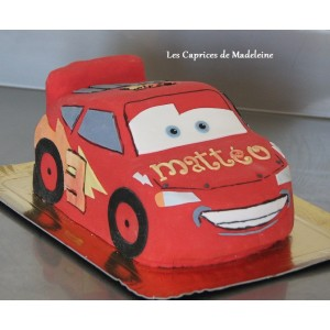 gâteau Cars Flash Mc Queen en 3D