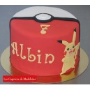 le gâteau Pokémon pokéball pikachu