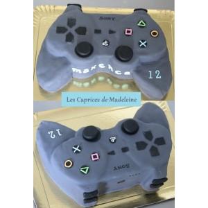 gâteau manette PS3 jeux vidéo