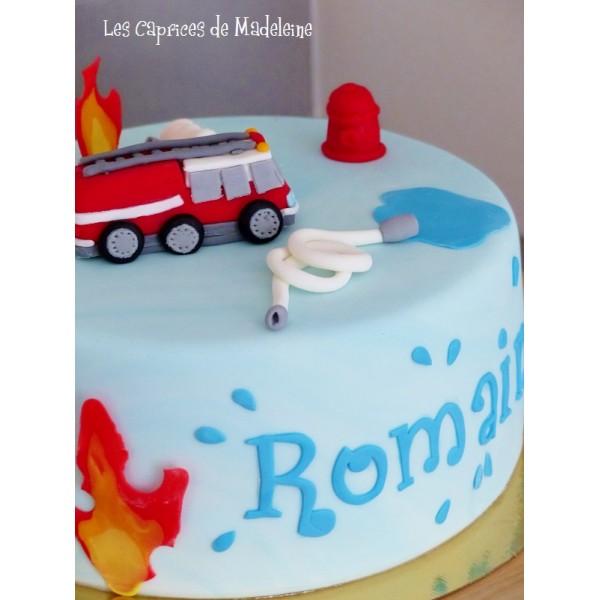G teau des pompiers - Gateau anniversaire sam le pompier ...