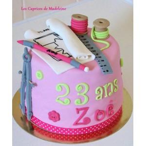 le gâteau architecte ou couture