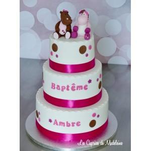 le gâteau doudou Lucie et Victoria