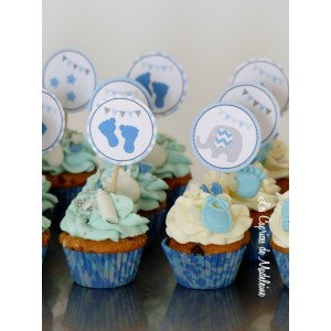 Cupcakes baby shower (ici mini)