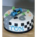 le gâteau circuit de voiture (Subaru)