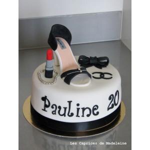 le gâteau chaussure à talon