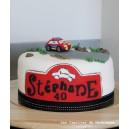 le gâteau circuit de rallye (voiture, Monte Carlo)