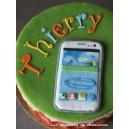 le gâteau smartphone, téléphone mobile ou tablette