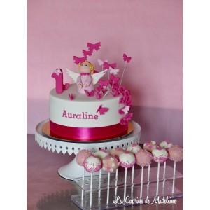 le gâteau ange et papillons