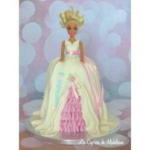 gâteau princesse Barbie