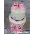 gâteau chaussons bébé
