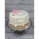 Gâteau fiançailles frou-frou et rose