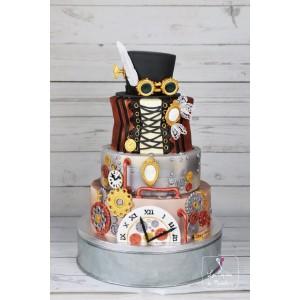 Wedding cake steampunk